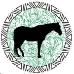 les chevaux verts