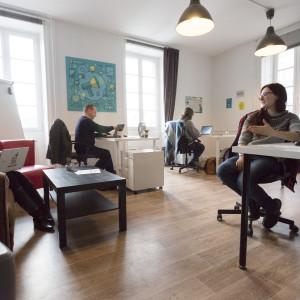 Grenier numérique de La Gacillly – espace coworking 1
